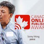 canadian_online_publishing_awards, sonny_wong, judge, vancouver, marketing